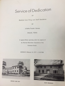 Dedication Service, Sunday, February 24, 1957